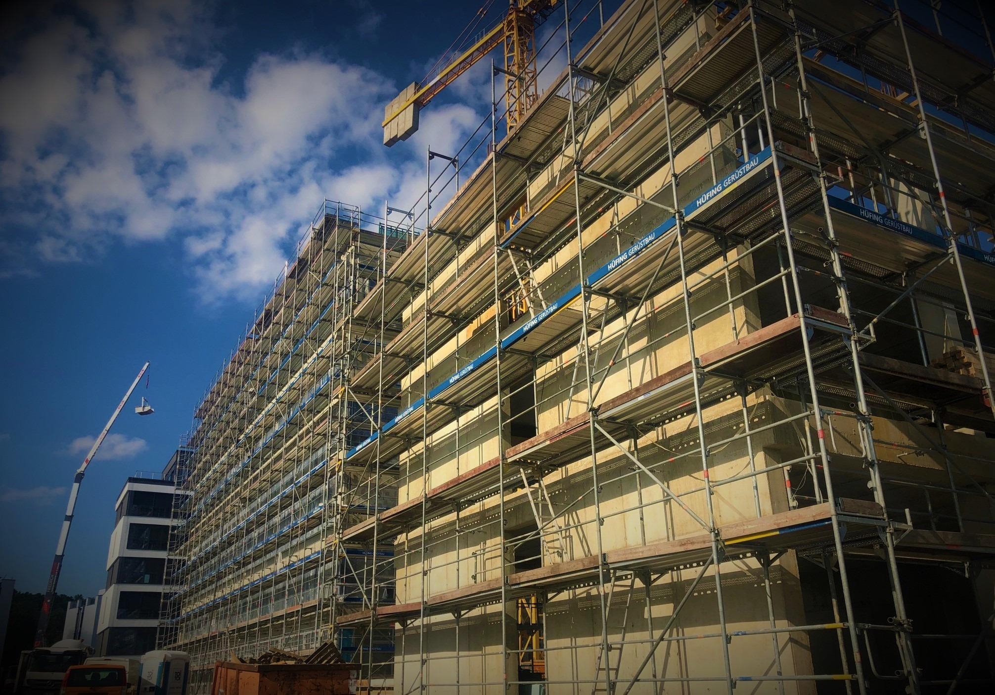 Juli 2019 - Die Bauarbeiten laufen auf Hochtouren
